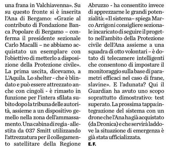 Press Eco di Bergamo - 2015 - Articolo Adunata_2